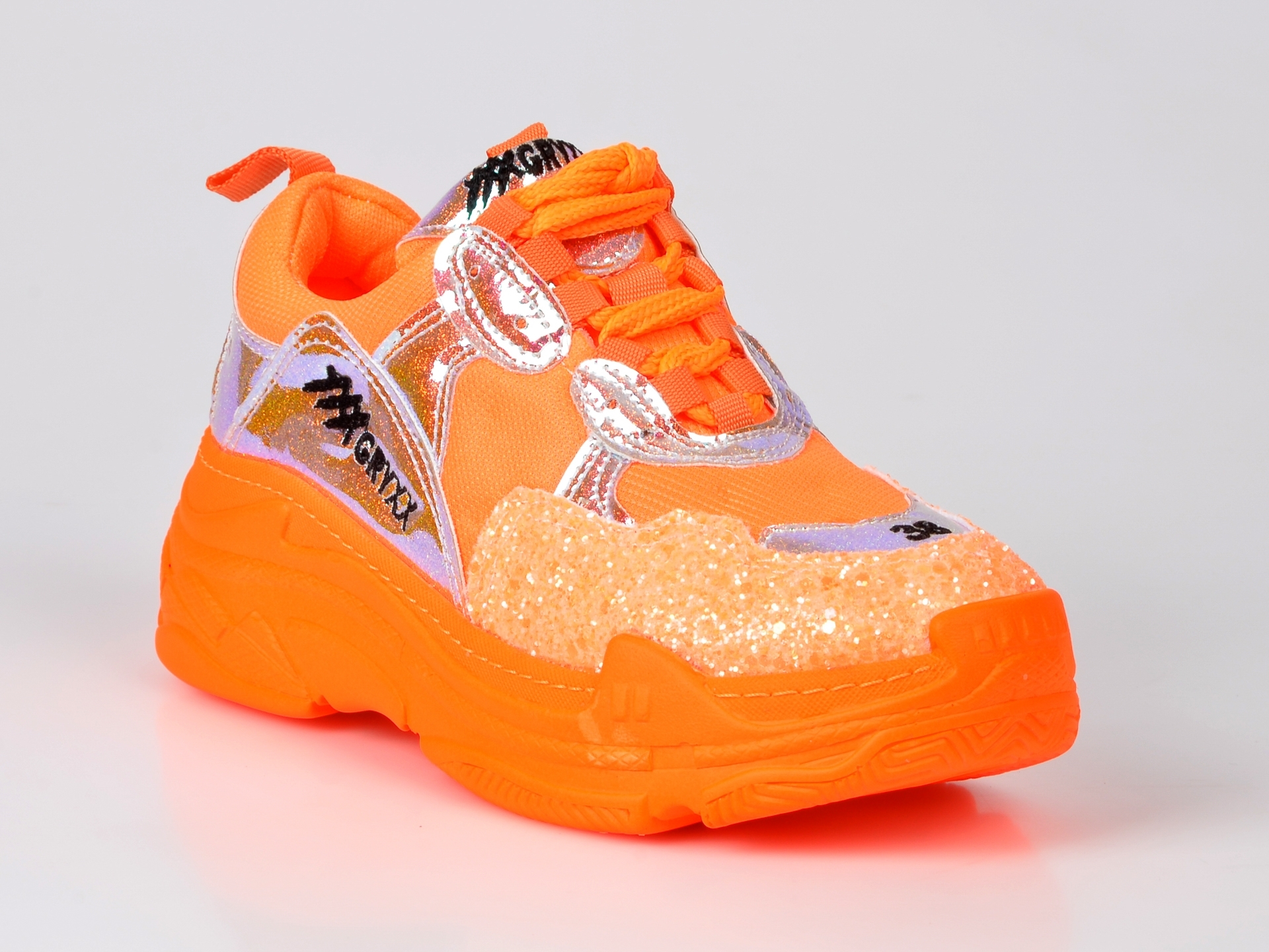 Pantofi sport GRYXX portocalii, din piele ecologica