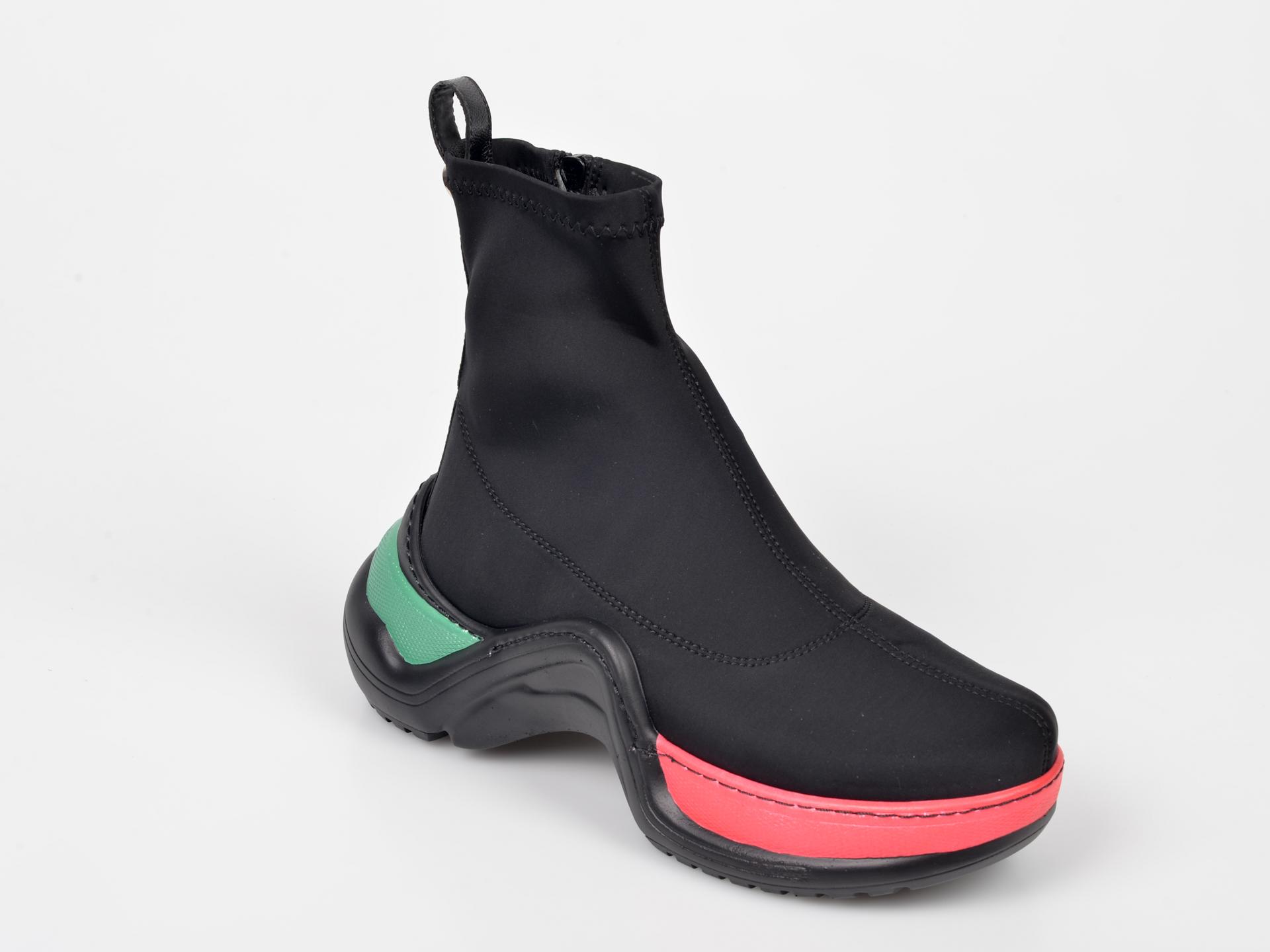 Pantofi sport GRYXX negri, MK104B1, din material textil