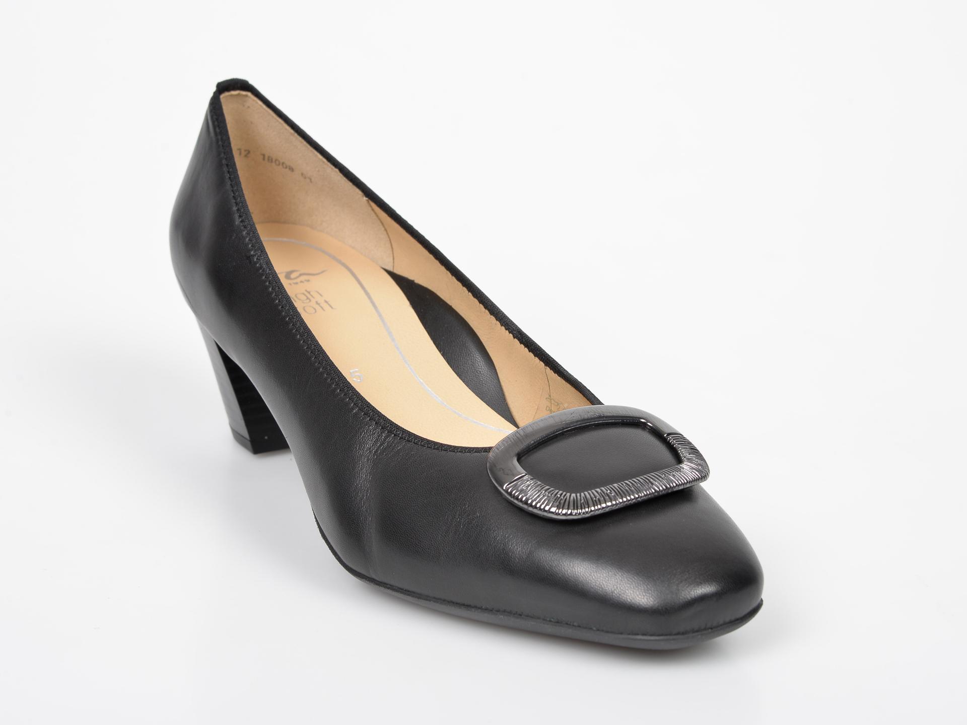 Pantofi ARA negri, 18008, din piele naturala