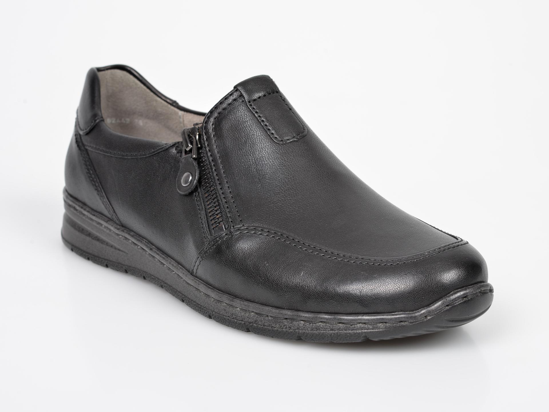 Pantofi ARA negri, 62442, din piele ecologica
