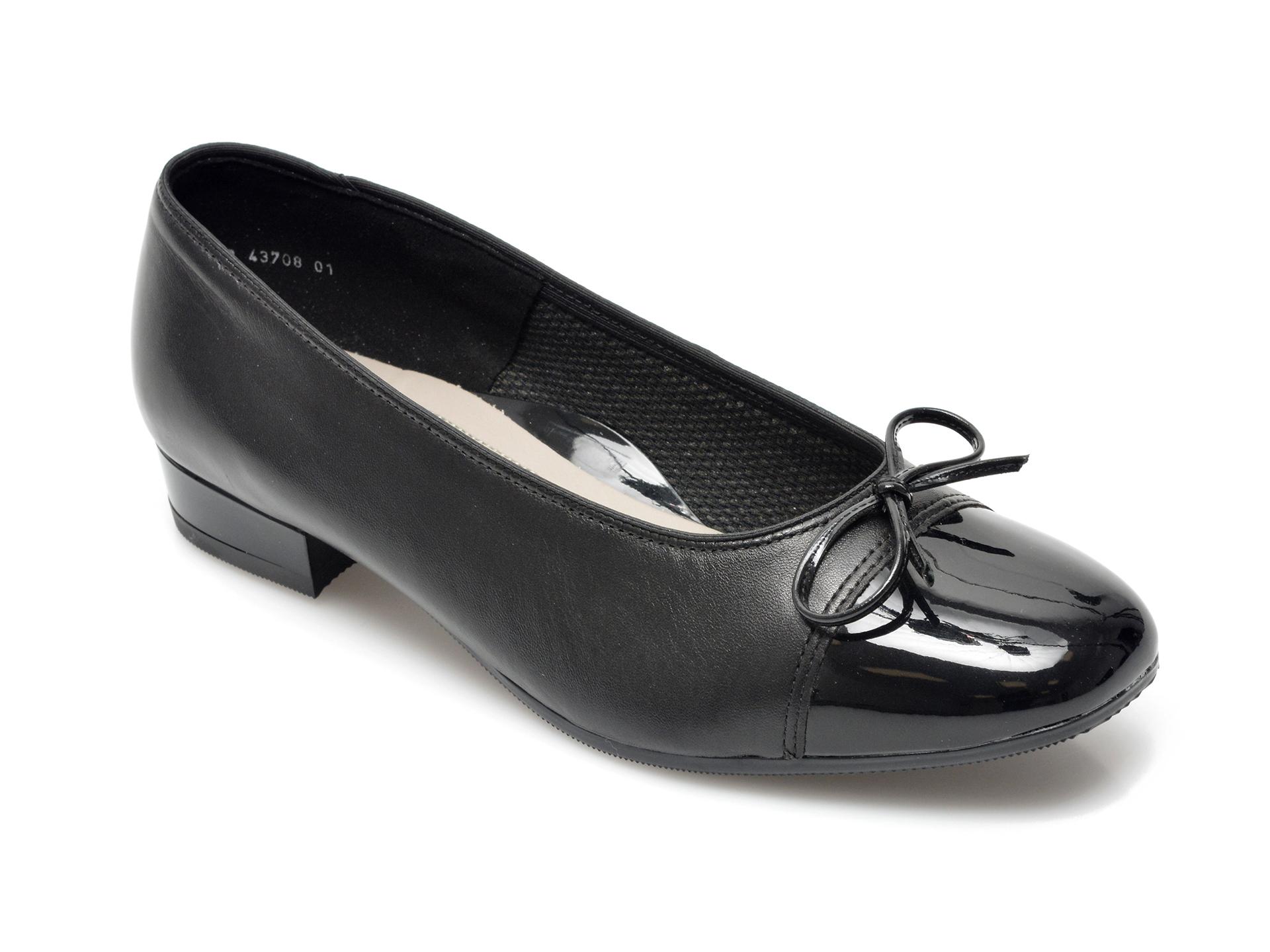 Balerini dama ARA, 43708, din piele naturala negri