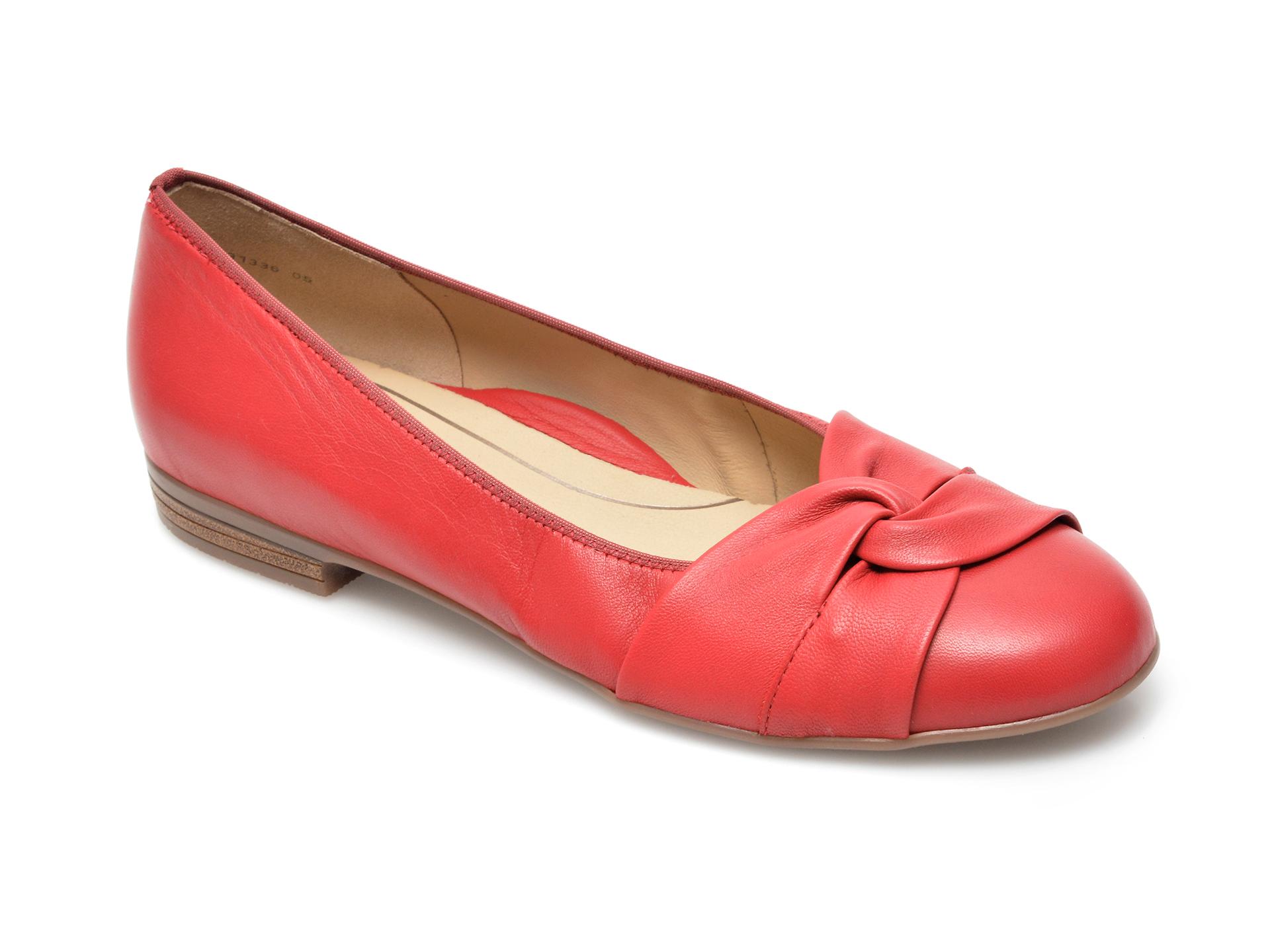 Balerini dama ARA, 31336, din piele naturala rosii