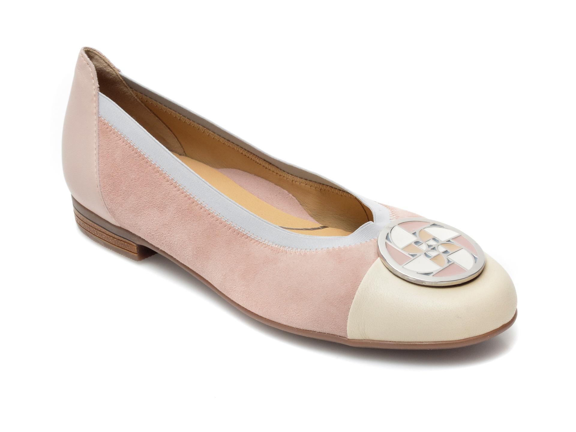 Balerini dama ARA, 31321, din piele intoarsa roz