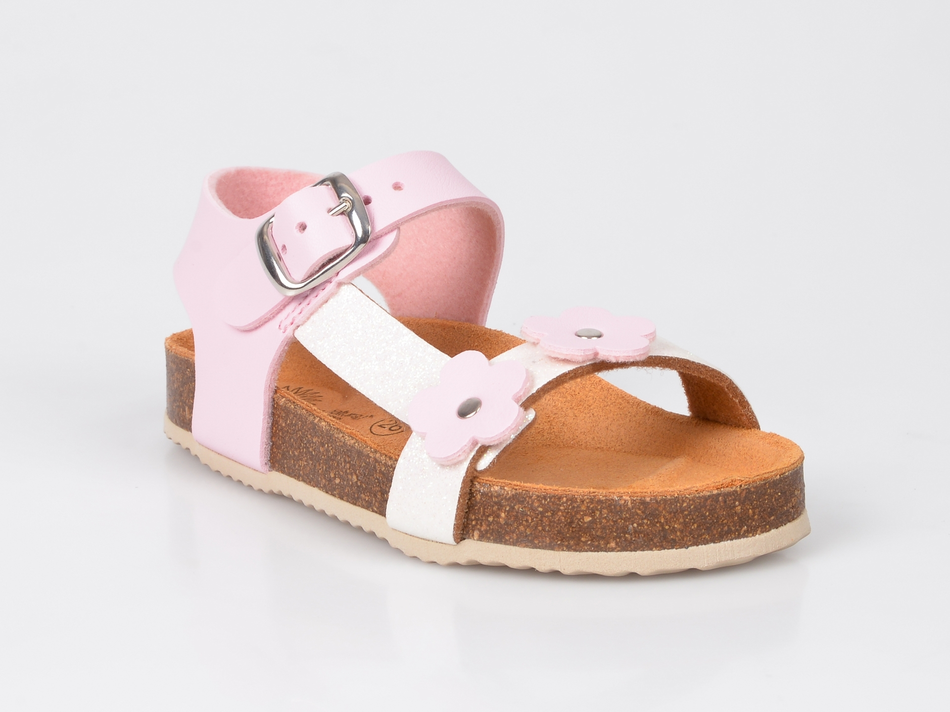 Sandale LA COMPANIA NATURAL roz, din piele ecologica imagine otter.ro 2021