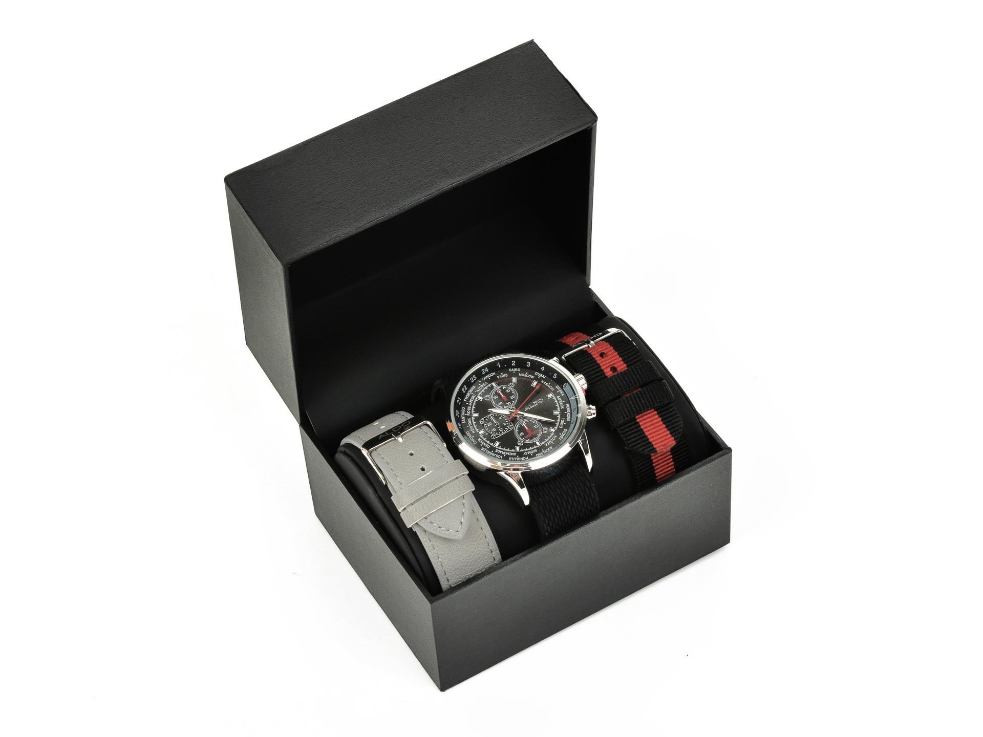 Ceas ALDO gri, Ramze050, din piele ecologica si metal imagine