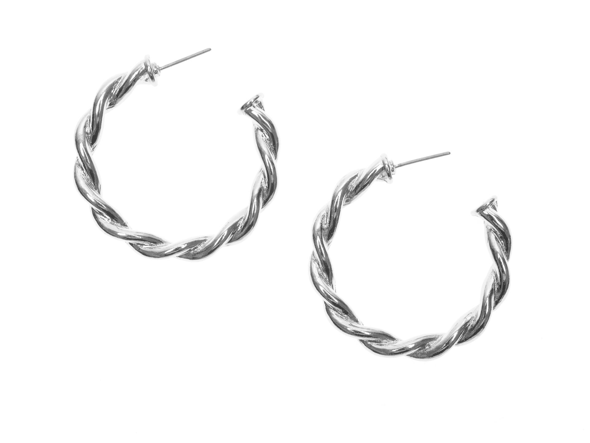 Cercei ALDO argintii, Bruggema040, din metal