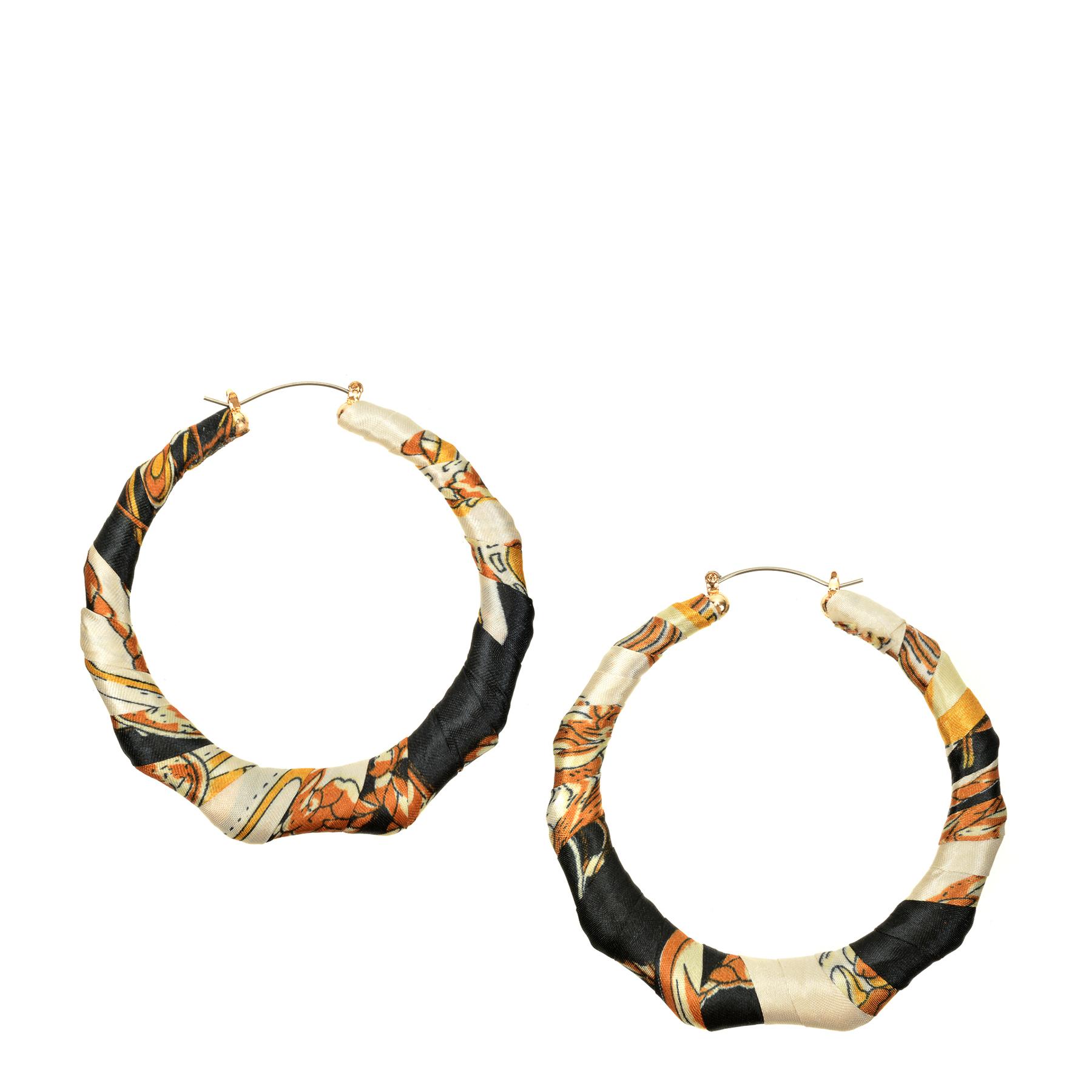 Cercei ALDO negri, Kibeth001, din metal si material textil imagine otter.ro 2021