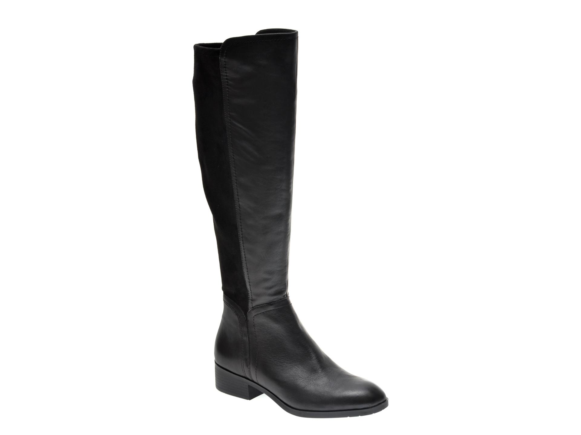 Cizme ALDO negre, Gweacia001, din material textil si piele naturala imagine otter.ro