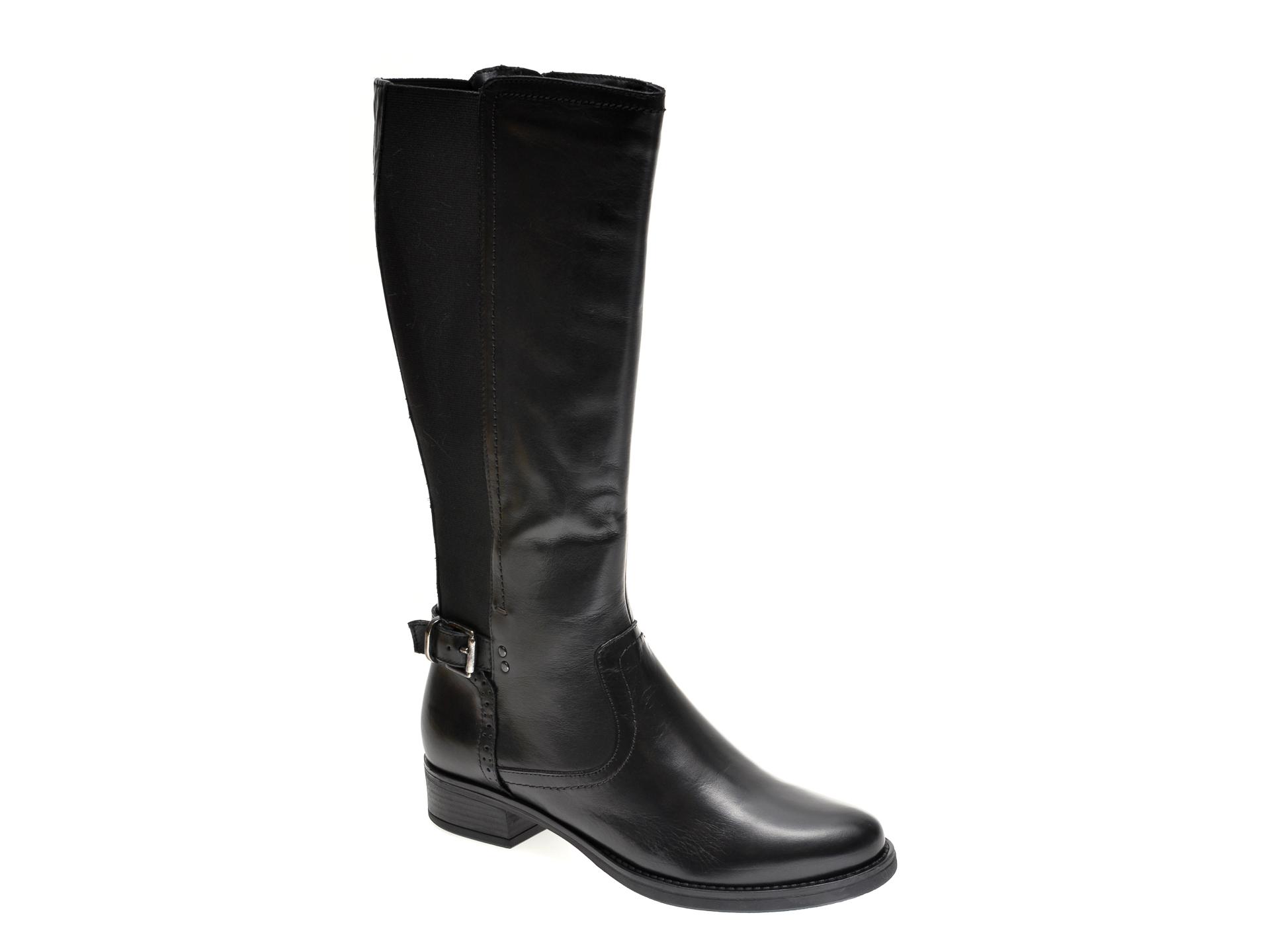 Cizme FLAVIA PASSINI negre, 2316, din material textil si piele naturala imagine otter.ro