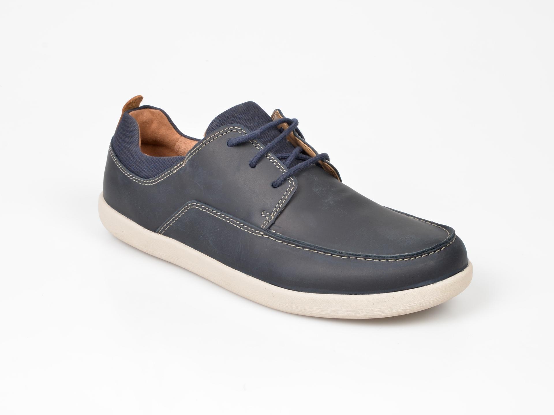 Pantofi CLARKS bleumarin, din piele naturala imagine