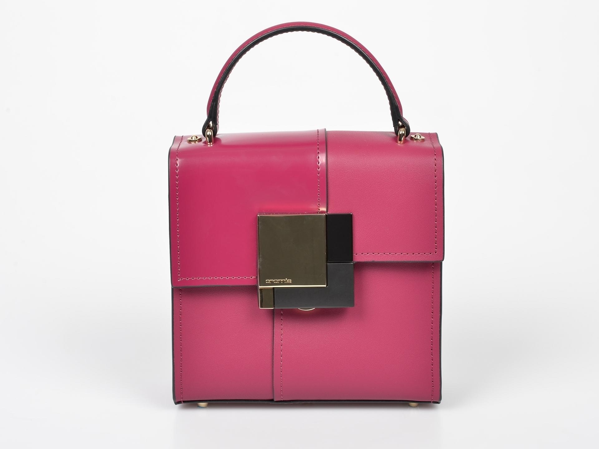 Poseta CROMIA roz, 4379, din piele naturala