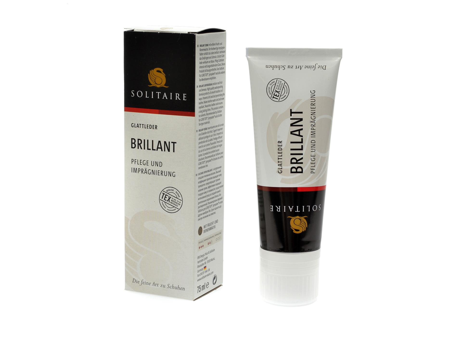 Crema de intretinere pentru incaltaminte, de culoare maro deschis, Solitaire