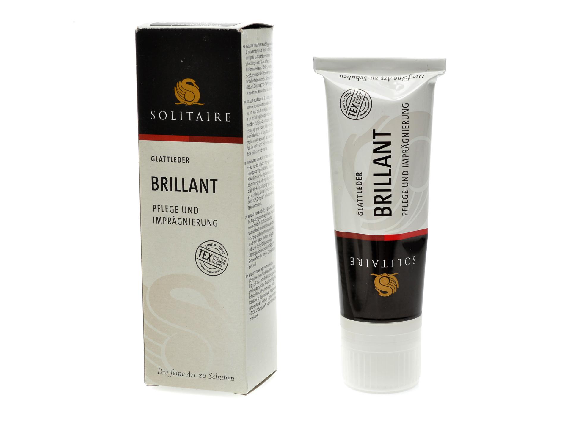 Crema de intretinere pentru incaltaminte, de culoare maro inchis, Solitaire imagine otter.ro 2021