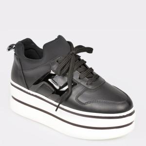 Pantofi sport GRYXX negri, Mo1064, din piele ecologica - a69s01111dkmo10649 diagonala simpla fundal gri - Pantofi sport GRYXX negri, Mo1064, din piele ecologica