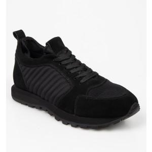 Pantofi sport OTTER negri, 3008, din piele naturala - b19n01111bk3008999 diagonala simpla fundal alb - Pantofi sport OTTER negri, 3008, din piele naturala