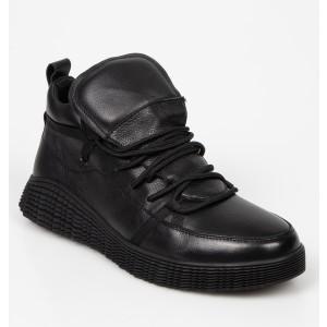 Pantofi OTTER negri, 3014, din piele naturala - b19n01111bk3014999 diagonala simpla fundal alb - Pantofi OTTER negri, 3014, din piele naturala