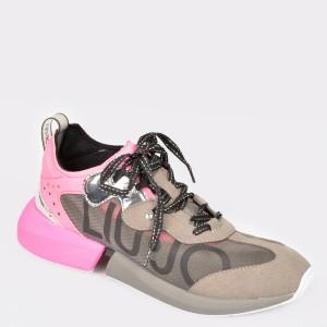 Pantofi sport maro, Yulia04, din material textil - d59sh1111dkyulia04 diagonala simpla fundal gri - Pantofi sport maro, Yulia04, din material textil