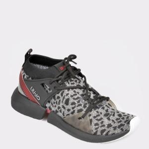Pantofi sport negri, Yulia01, din material textil - d59so7111dkyulia01 diagonala simpla fundal gri - Pantofi sport negri, Yulia01, din material textil