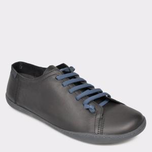 Pantofi CAMPER negri, K100300, din piele naturala - fq9n01111bkk100300 diagonala simpla fundal gri - Pantofi CAMPER negri, K100300, din piele naturala