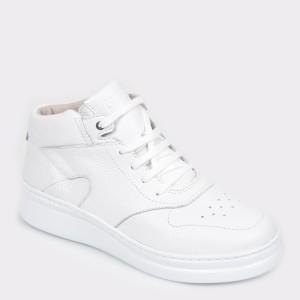 Ghete CAMPER albe, K400387, din piele naturala - fq9n13112dkk400387 diagonala simpla fundal gri - Ghete CAMPER albe, K400387, din piele naturala