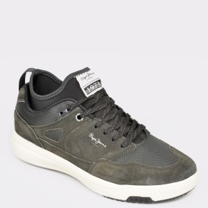 Pantofi sport PEPE JEANS kaki, Ms30571, din material textil si piele naturala - jp9751111bkms30571 diagonala simpla fundal gri - Pantofi sport PEPE JEANS kaki, Ms30571, din material textil si piele naturala