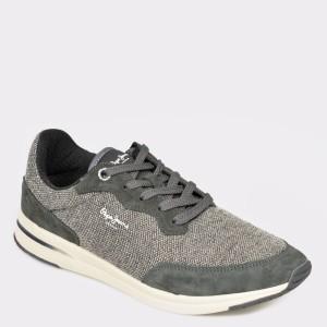 Pantofi sport PEPE JEANS gri, Ms30576, din material textil si piele naturala - jp9751111bkms30576 diagonala simpla fundal gri - Pantofi sport PEPE JEANS gri, Ms30576, din material textil si piele naturala