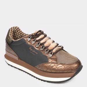 Pantofi sport PEPE JEANS maro, Ls30905, din piele ecologica - jp9s14111dkls30905 diagonala simpla fundal gri - Pantofi sport PEPE JEANS maro, Ls30905, din piele ecologica