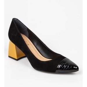 Pantofi EPICA negri, 8493456, din nabuc - oe9201111dk8493456 diagonala simpla fundal gri - Pantofi EPICA negri, 8493456, din nabuc
