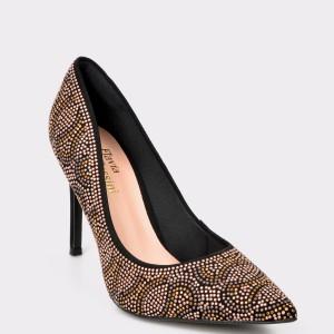 Pantofi FLAVIA PASSINI negri, 5165184, din material textil