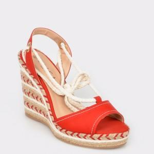 Sandale EPICA MADE IN BRAZIL rosii, 860089, din nabuc