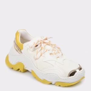 Pantofi sport GRYXX albi Mk1108 din piele ecologica
