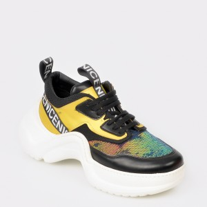 Pantofi sport GRYXX negri, Mk1046, din piele ecologica