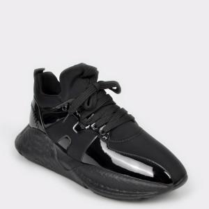 Pantofi GRYXX negri, Cobra2, din piele ecologica
