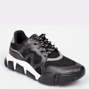 Pantofi sport GRYXX negri, MO1113, din piele ecologica