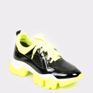 Pantofi GRYXX negri, Mo992, din piele ecologica