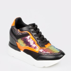 Pantofi sport GRYXX negri, MO75BT6, din piele ecologica