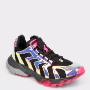 Pantofi GRYXX negri, T12, din piele ecologica
