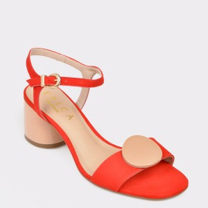 Sandale EPICA MADE IN BRAZIL rosii, 8884516, din nabuc