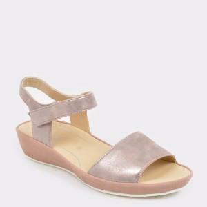 Sandale ARA roz, 28001, din piele intoarsa