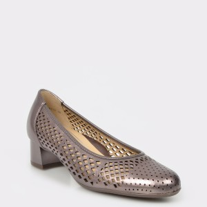 Pantofi Ara Aurii, 16615, Din Piele Naturala