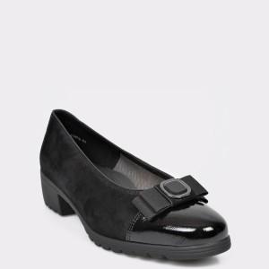 Pantofi ARA negri, 45055, din piele intoarsa
