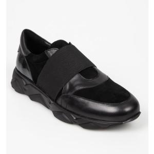 Pantofi GRIXX negri, 3004, din piele naturala