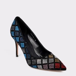 Pantofi EPICA negri, Typ8550, din piele intoarsa