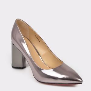 Pantofi FLAVIA PASSINI argintii F2125P din piele naturala lacuita