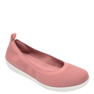 Balerini CLARKS roz, Ayla Paige, din material textil