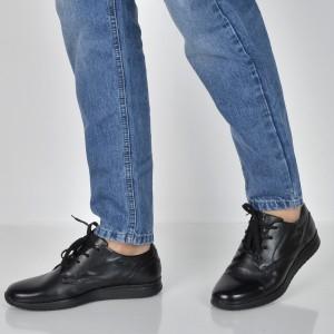 Pantofi BUGATTI negri, 38506, din piele naturala