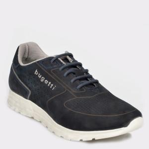 Pantofi sport BUGATTI bleumarin, 70202, din nabuc