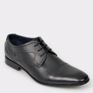 Pantofi BUGATTI negri, 10112, din piele naturala