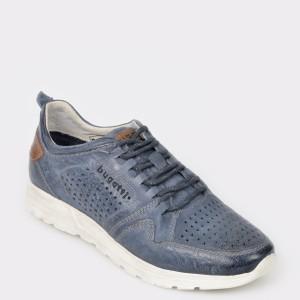 Pantofi sport BUGATTI albastri, 70201, din piele naturala