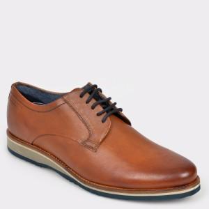 Pantofi BUGATTI maro, 68401, din piele naturala
